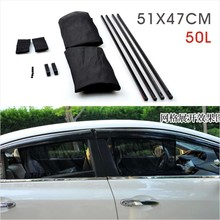 2Pcs/set New Black Mesh Fabric Car Auto 50L Window Curtain Sunshade Set UV Protection Side Window Curtain 51 x 47cm(China (Mainland))