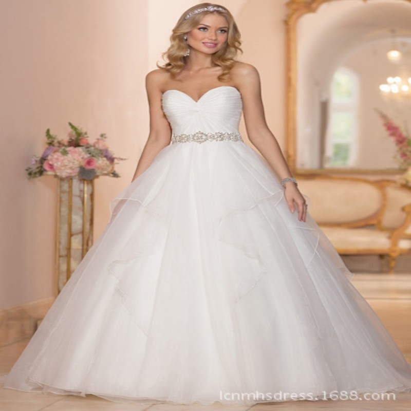 Free shipping white ivory chiffon off shoulder crystal for Off white plus size wedding dresses
