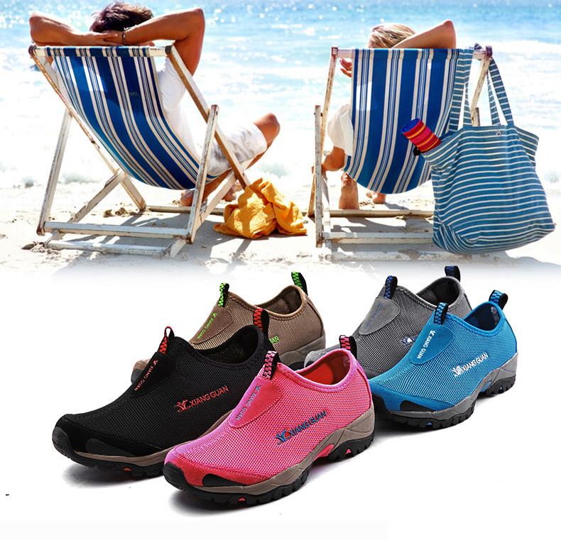 XIANGGUAN Woman Beach Aqua Shoes Women Trekking Peach Summer Swimming Water Sports Boating Wading Shoe Outdoor Walking Sneakers