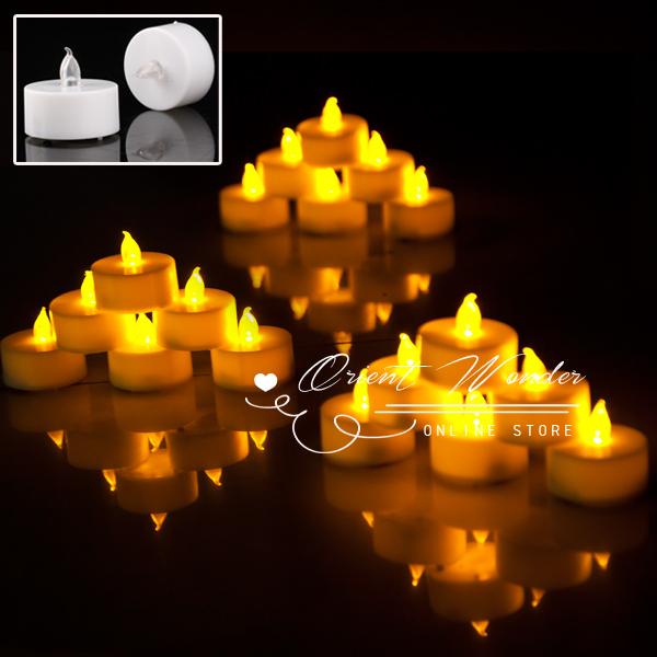 Freeshipping,18 pcs/lot Smokeless flameless Electronic LED candle light flashing Yellow Light 1.5 inch Candle Lamp weding party(China (Mainland))