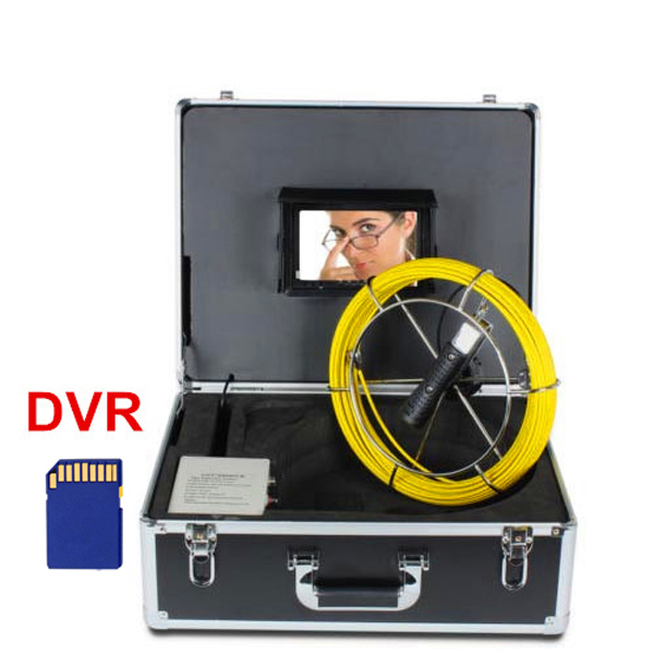 Drain Sewer Pipe Inspection Camera Equipment High Definition 7 inch TFT Monitor Borescope Pipe Inspection Camera with DVR(China (Mainland))