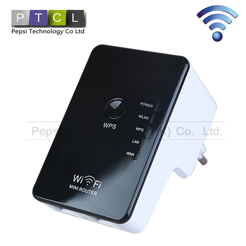 Portable 300Mbps IEEE 802.11 B/ G/N Wireless-N Wifi Repeater Wifi Router Signal Range extender Support AP EU / US / UK /AU(China (Mainland))