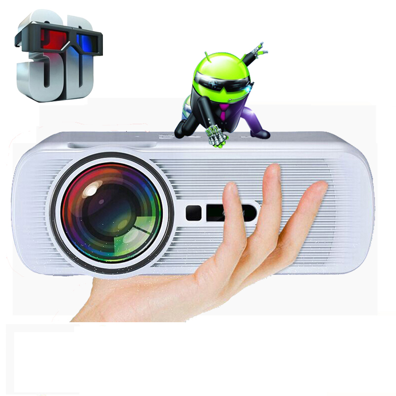 Cheapest uc46 1800Lumens Android 4.4 Wifi Multifunction Professional LED home cinema video beamer LCD 3D TV projectors proyector(China (Mainland))