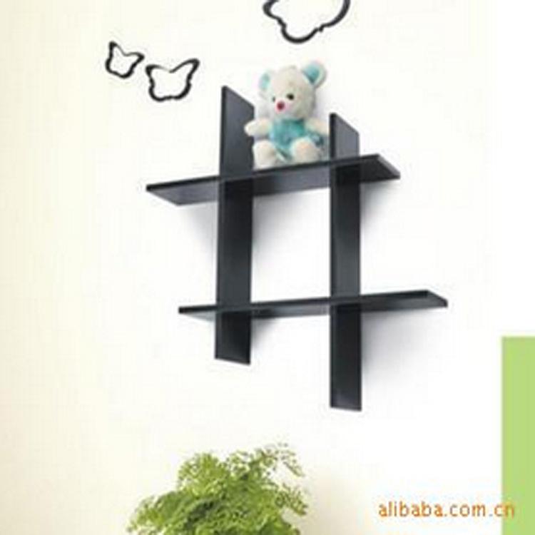 Фотография Factory direct fashion creative wooden wall shelf rack shelf Tic-Tac-dimensional fine separator