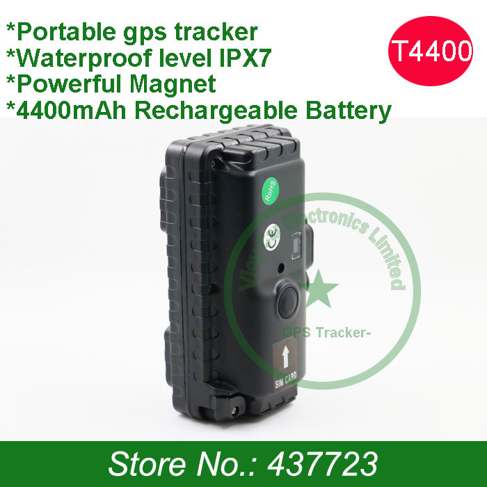 FREE shipping! Localizzatore gps with 4400mAh internal battery, standby 900 days, free gps tracking software and free shipping!(China (Mainland))