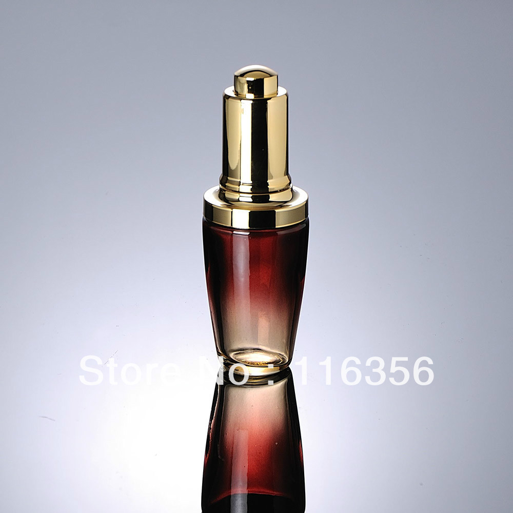 30ML red glass bottle with golden press dropper  for Cosmetic Packaging<br><br>Aliexpress