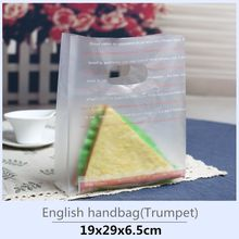 HARDIRON 100pcs OPP Plastic Frosted Baking Tote Bag Wavy Lines Newspapers Bows Handbags Cake Dessert Takeaway(China)