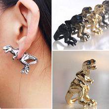 2015 Fashion Punk Gothic Personality Metal Dinosaur Dragon Ear Clip Cuff Stud Earring New Free Shipping(China (Mainland))