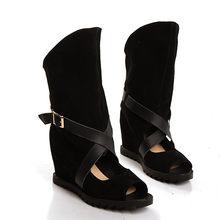 MoonMeek/2018 г. новое поступление женские летние ботинки модные с открытым носком из флока Обувь на высоком каблуке классические женские вечерни...(China)