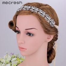 Mecresh Top Crystal Bridal Headband Heart-shaped Silver Color Rhinestone Wedding Hair Jewelry Accessories Party Gift MTS045(China (Mainland))