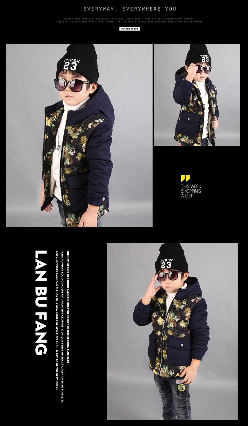 Скидки на 2016 Новая Зимняя Одежда Хлопка Ватник Корейской Boythick Теплое Пальто Мода Зима Утка Вниз Парка Пальто Для Подростков