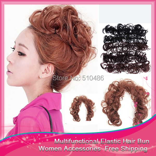 Fashion 10Pcs/Lot  Hair Ties Fashion Wig Pony Tail Hair Bun Rope Bands Accessories Ponytail Holder Free ShippingОдежда и ак�е��уары<br><br><br>Aliexpress