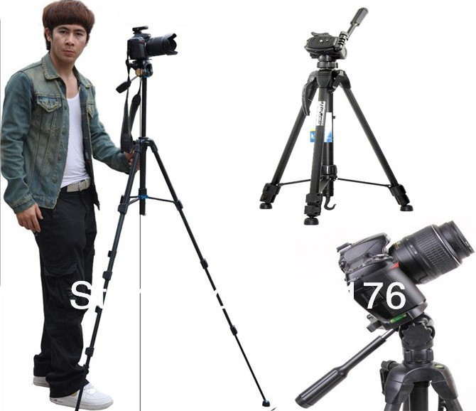 153CM Extend Professional 3D Digital Camera Tripod Video Record Machine Cradle Head Stands Holder Flexible Photography Tripus(China (Mainland))