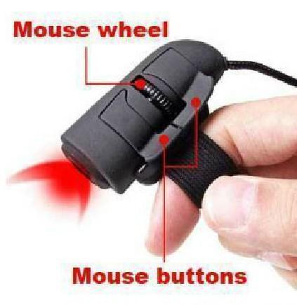 Free Shipping USB Optical Finger Mouse Ring Mice For Laptop Desktop PC SKU:10490(China (Mainland))