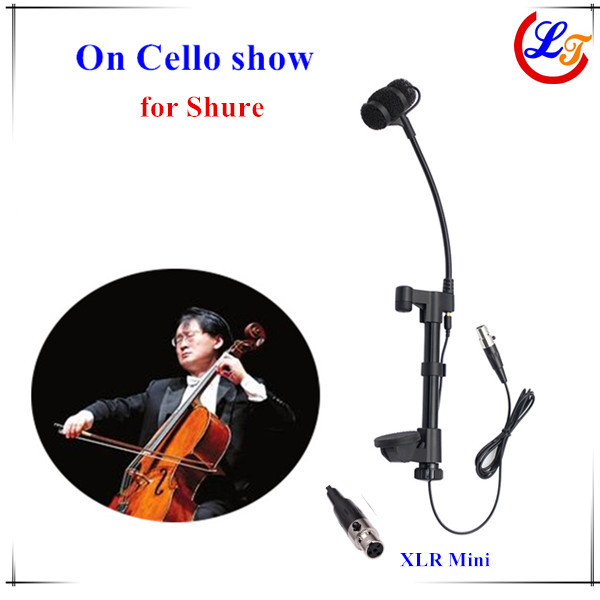 Professional Music Instrument Cello Condenser Microphone Lapela Microfone for Shure Wireless System XLR Mini 4pin Mikrofon(China (Mainland))