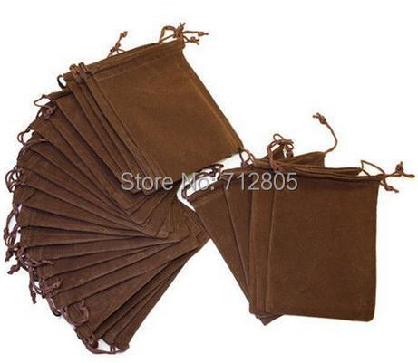 Wholesale High Quality 50pcs/lot 10x12cm Light Coffee Velvet Pouch Jewelry Gift Packing Bag Drawstring Bag(China (Mainland))