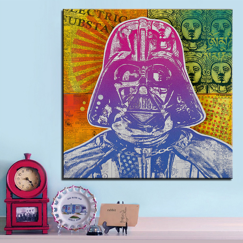 Large size Print Oil Painting Wall painting vader electric Pop art Decorative Wall Art Picture For Living Room paintng No Frame(China (Mainland))