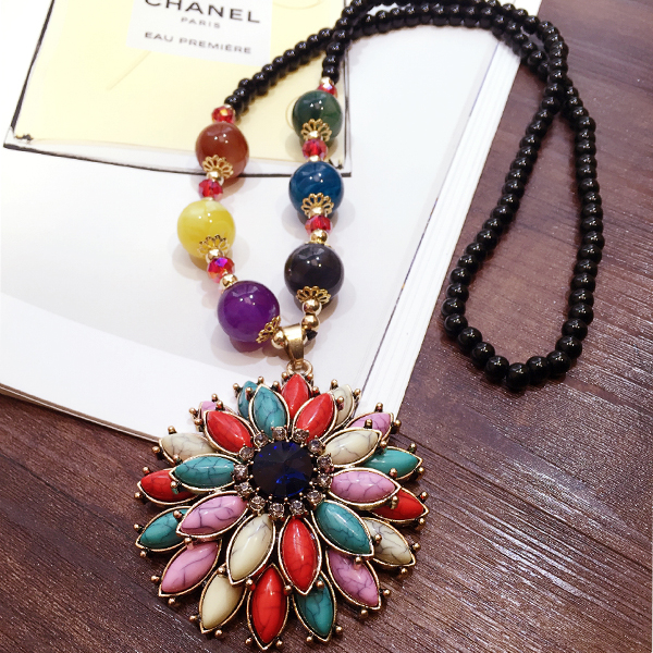 Vintage all-match decoration necklace women's long design autumn and winter accessories necklace pendant accessories(China (Mainland))