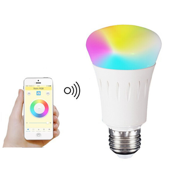 Smart phone control RGBW wifi led bulb with Android or ISO 7w color changing bulb(China (Mainland))