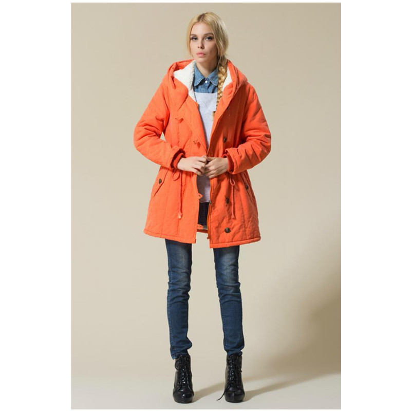XL 4XL Plus Size New Autumn Winter Keep Warm Flocking Jacket Long Sleeve With Hat Women
