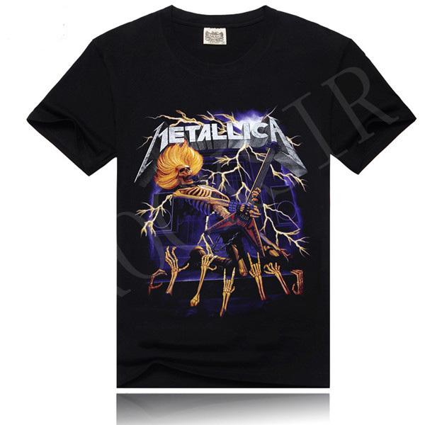 Trendy Men Clothes Cotton Blend Tee Shirt Skull Printed Tee Shirt Comfortable Soft Tops(China (Mainland))