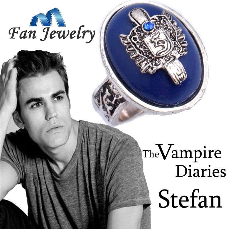 Daren wholesale movies jewelry The Vampire Diaries Stefan ring  America TV show   DRR637<br><br>Aliexpress