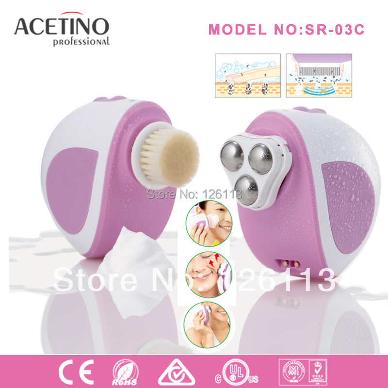 Free shipping !!!HOT ! face clearner massager3D Galvanic Sonic Facial Cleansing Brush Facial Massage Beauty Instrument(China (Mainland))