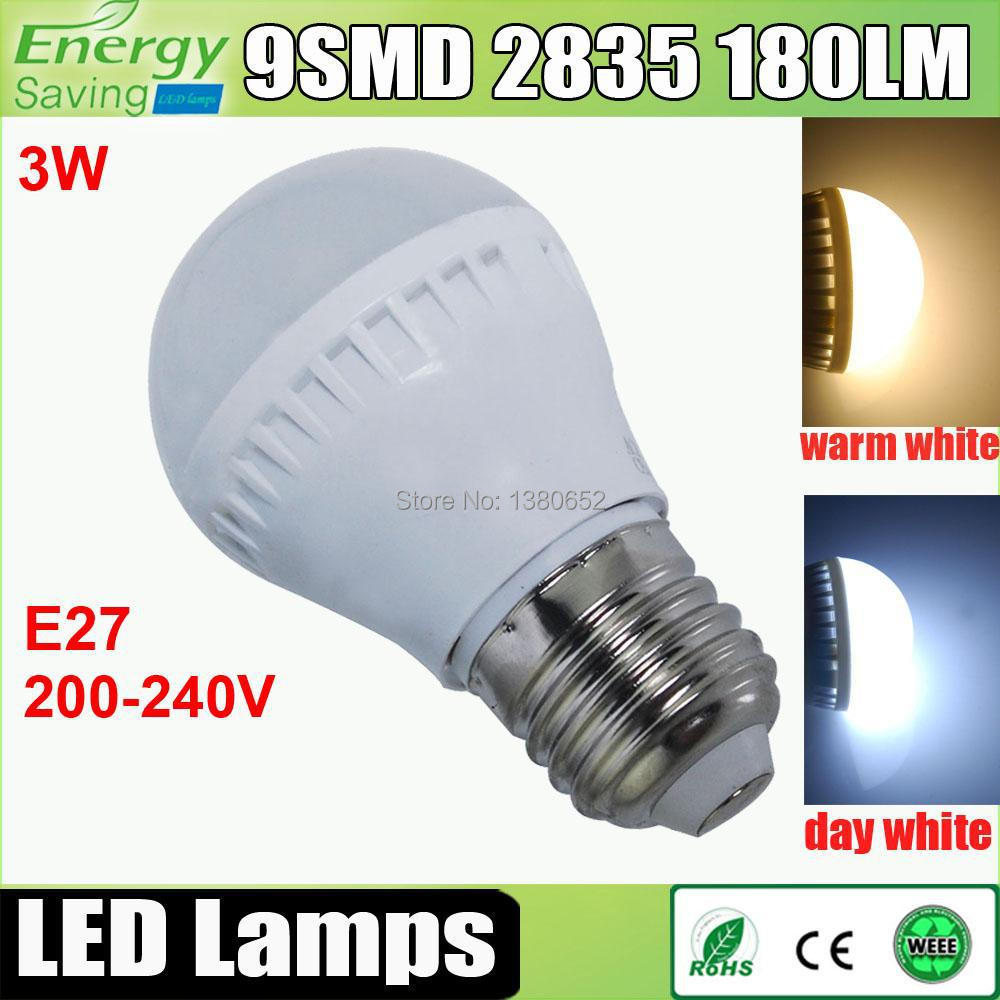1pcs led e27 led bulb 3w led lamp 220v 240v smd 2835. Black Bedroom Furniture Sets. Home Design Ideas