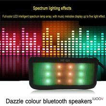 Mini Portable Colorful LED Wireless Bluetooth Speaker Support FM Hands Free TF Card 3.5mm Jack For PC Mobile Phones