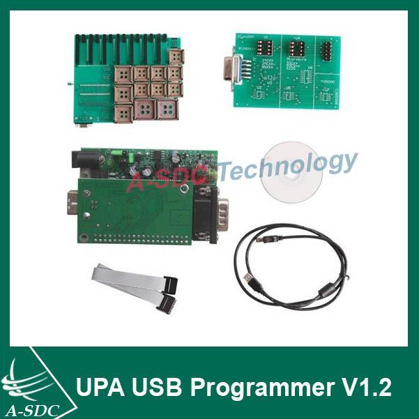 Newest Original OBD 2 UPA USB Programmer V1.2 with Full Adaptors 25 parts UPA-USB Serial Programmer Motorola ECU chip programmer(China (Mainland))