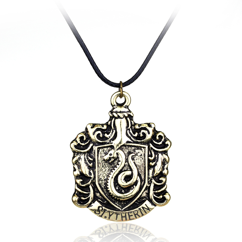 H P Hogwarts Slytherin School Badge Leather jewelry ...