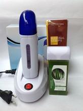 Wax Heater Sets One Seat Safe Painless 220-240V EU Plugs Shaving Depilatory Wax * 1 + Hair Removal Machine * 1 + Paper * 100(China (Mainland))