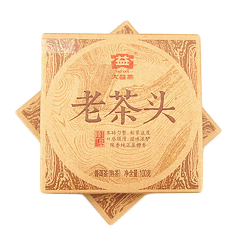 New coming Great benefits 2014 new 1401 batch Pu'er tea head cooked tea 100G Dayi laochatou(China (Mainland))