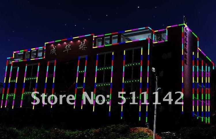 6 Pixels inner-controlled RGB LED digital tube,108pcs led per meter,IP66 with aluminum base,semi-transparent tube, Free shipping(China (Mainland))