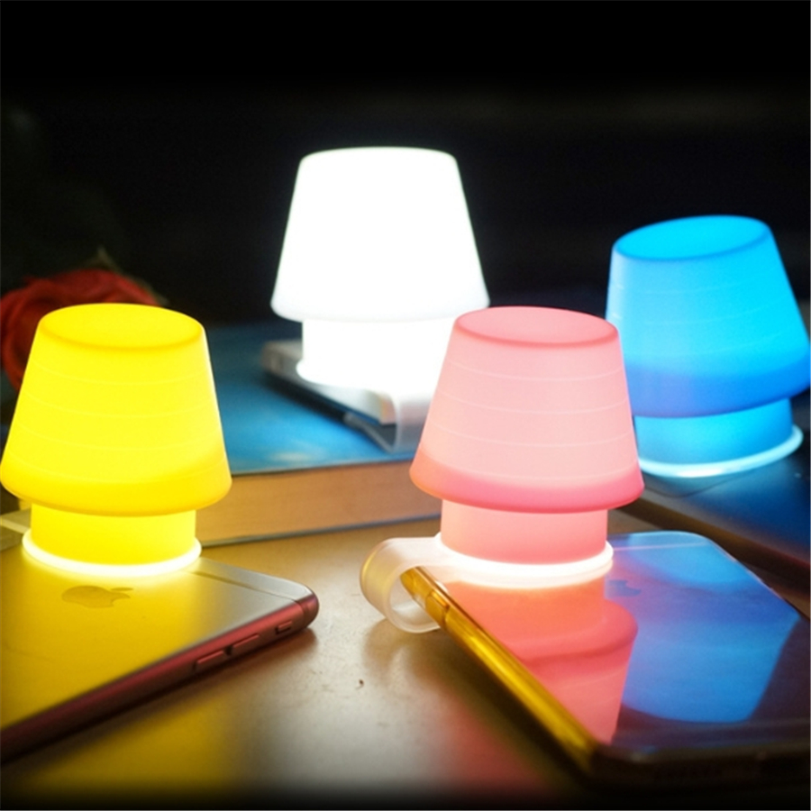 Usb chargable small snail led night light baby bedside cartoon night light blue/yellow/pink/red(China (Mainland))