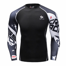 Buy Mens Compression Shirts Bodybuilding Skin Tight Long Sleeves Jerseys Clothings MMA Crossfit Exercise Workout Fitness Sportswear for $18.28 in AliExpress store