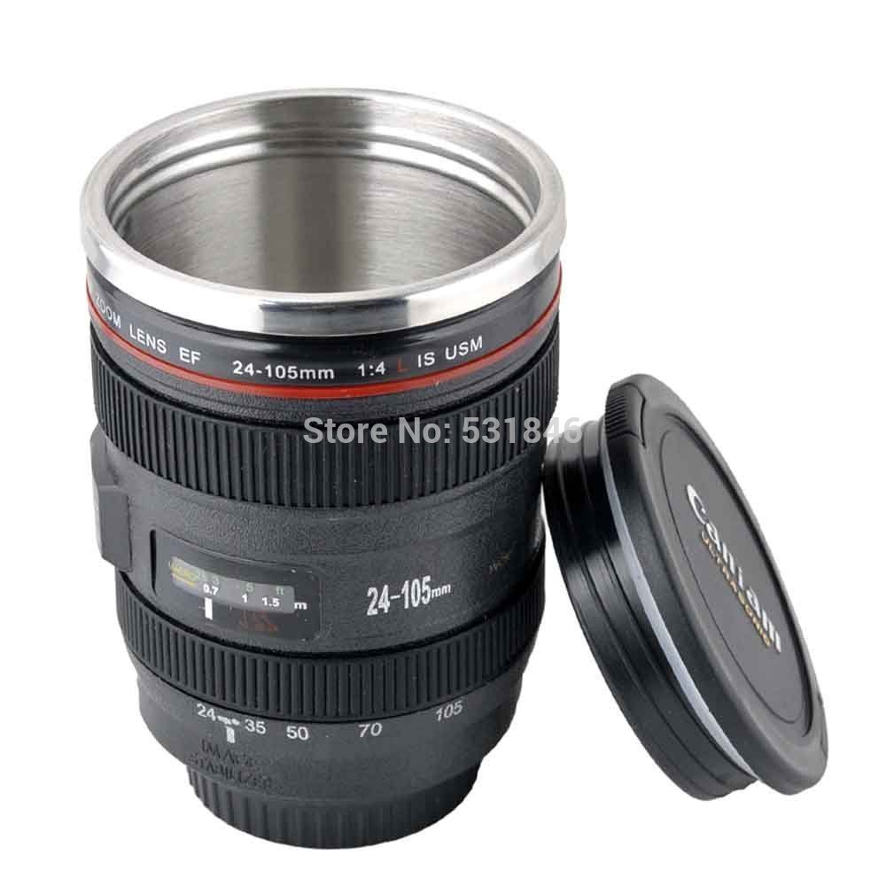 New ef 24 105mm camera lens travel coffee mug cup for Photo lens coffee cup