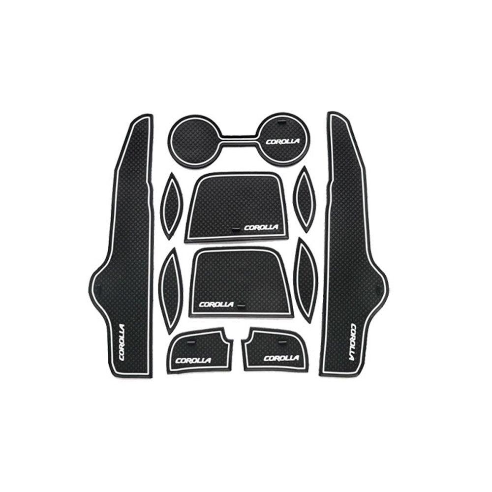 Гаджет  Non- slip Lnterior Door Pad Door Gate Slot Mat For Toyota Corolla 2007-2013 11Pcs Auto Accessories None Автомобили и Мотоциклы