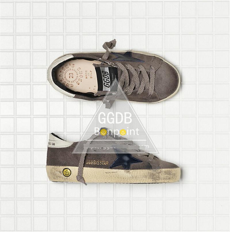 Original Italy Golden Goose Casual Shoes Men Lace Up Handmade Genuine Leather Women GGDB Brand Smile Brown Scarpe Uomo
