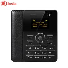 AIEK Q1 1.0 inch Ultra-thin Card Phone Bluetooth 2.0 FM Audio Player Sound Recorder Alarm(China (Mainland))