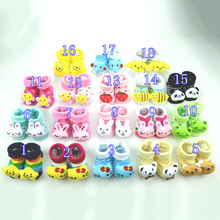 Newborn 0-18Month Cotton Lovely Animal Socks 18 Styles Cartoon Slipper Cute Anti Slip Cotton Toddler Socks Shoes