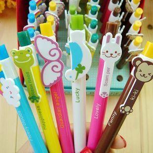 170pcs Ballpoint Pen Support Add Logo Animal Bookmark Korean Promotion Plastic Cute Stationery Kids Gift 6Styles say hi 0325