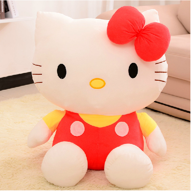 3PCS/Lot Wholsale 20CM High Quality Baby Toy Hello Kitty Toy Gift Christmas Children Kids Stuff Plush Cat Lovely Doll 3Color(China (Mainland))