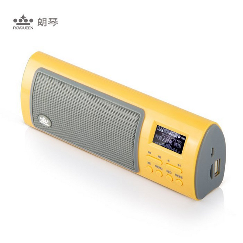 Hot sale in Japan Korea Royqueen X6III mini card portable speaker FM radio small MP3 sound recorder(China (Mainland))