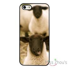 Funny Sheep Face Farm Animal Goats back skins mobile cellphone cases cover for iphone 4/4s 5/5s 5c SE 6/6s plus ipod touch 4/5/6