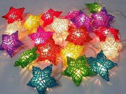 Rattan lamp KTV bar star lampshade has the market atmosphere decorative lamp Festival Christmas lights(China (Mainland))