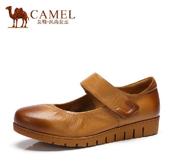 Фотография CAMEL 2015  new shallow mouth cowhide flats female casual shoes A52153604
