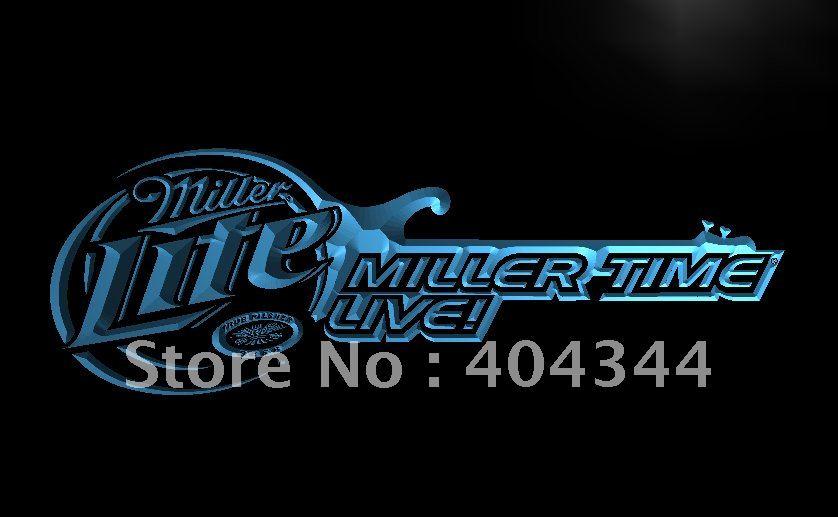 LE017- Miller Lite Beer Bar Guitar LED Neon Light Sign home decor shop crafts(China (Mainland))