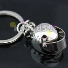 alloy mini motorcycle helmet keychain car key ring couple lover key chain advertising gift keychains(China (Mainland))