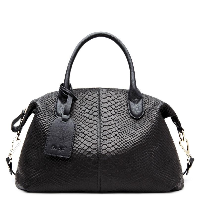 2016 new winter European and American fashion Snake Print Genuine Leather Ms Shoulder Messenger Handbag CMX484<br><br>Aliexpress